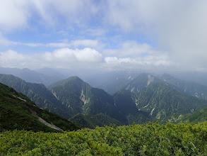 七倉岳(左)と船窪岳(右)