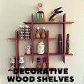 Decorative wood shelves icon
