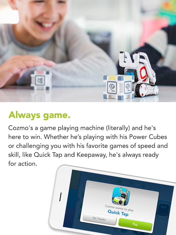 Screenshots of Cozmo ® for iPhone