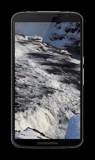 冬の滝ビデオLWP