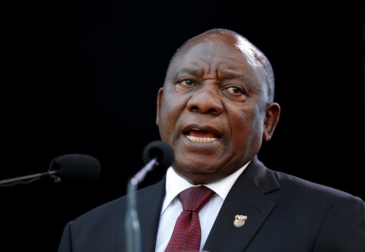 Cyril Ramaphosa speaks after taking the oath of office at his inauguration as South African president at Loftus Versfeld stadium in Pretoria, South Africa May 25, 2019. Picture: REUTERS / SIPHIWE SIBEKO