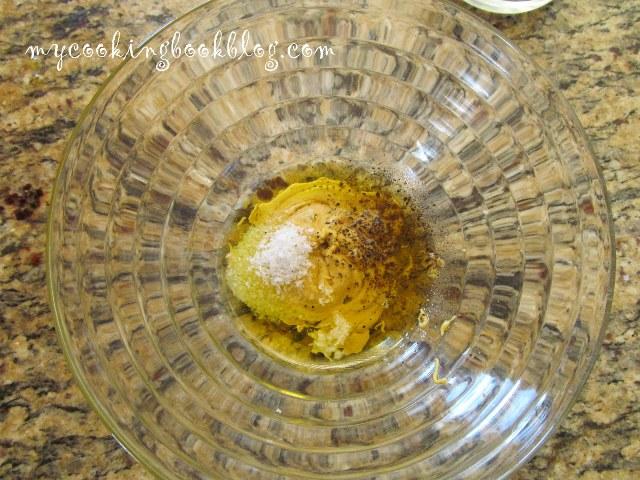 Сьомга с талятеле в авокадо сос