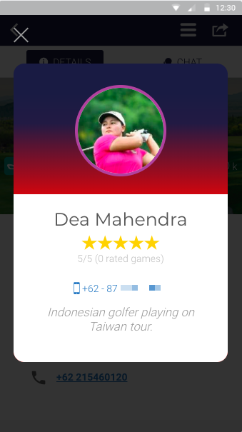 deemples hosting golf games player contact information