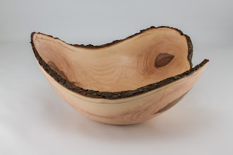 "Photo: Richard Webster 11"" x 5"" natural-edge bowl [dogwood]"