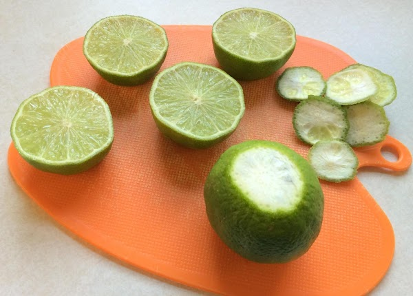Cut off the top quarter of each of 6 limes, then, without cutting into...