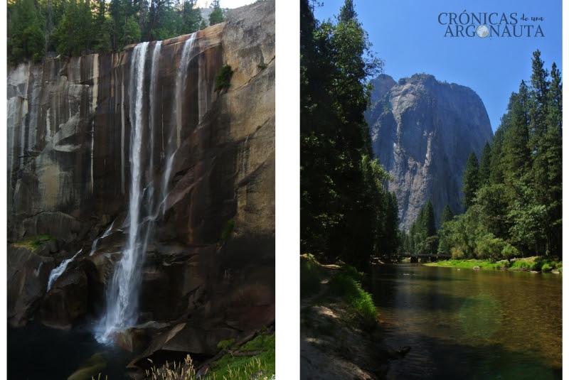 Cascadas en el parque nacional de Yosemite