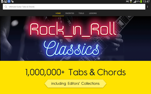 (APK) تحميل لالروبوت / PC Ultimate Guitar Tabs & Chords تطبيقات screenshot