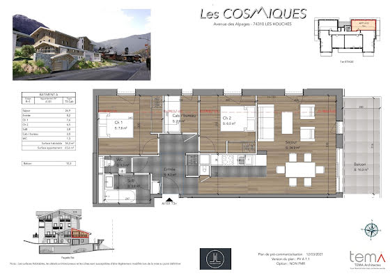Vente appartement 4 pièces 65,6 m2