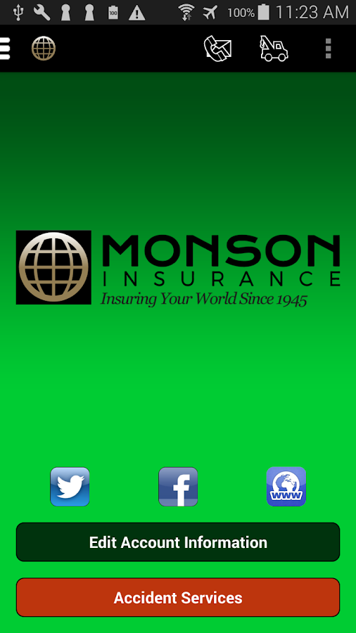 Monson Insurance- screenshot