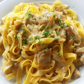 Tagliatelle With Porcini Mushrooms.