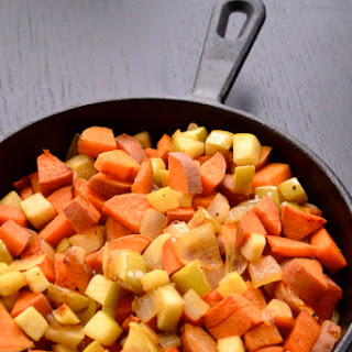 sweet potato apple hash the collegiate vegan sweet potatoes apples ...