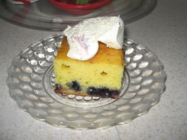 made this one today 12/10/2014 Lemon cake and blueberry pie filling.