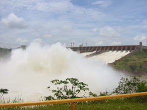 Photo: The spillway has enough capacity for 4x the average flow over Iguazu falls (a strange comparison given that's a separate river, but still)