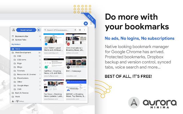 Aurora Minima: Bookmark Manager & Viewer