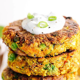 Indian-Spiced Chickpea and Vegetable Cakes [Vegan, Gluten-Free].