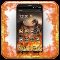 Drago fantasia fuoco icon