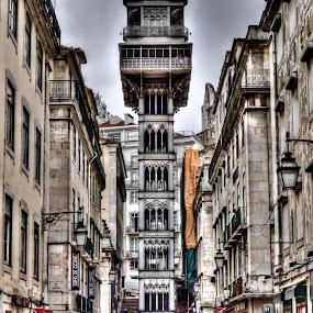 Elevador Santa Justa by Carlos Cardoso - Buildings & Architecture Public & Historical ( hdr, santa, justa, lisbon, elevador )