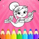 Princesses Coloring Book Page APK