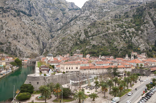 Kotor, a coastal city in Montenegro, as seen from Viking Star. The World Heritage Site has 13,500 residents.
