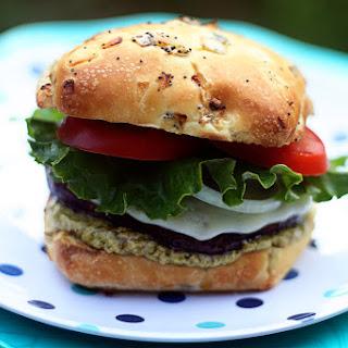 Portobello Burgers with Pesto Mayo Recipe