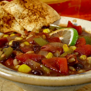 Red, Gold, Black And Green Chili.