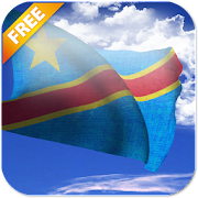 3D DR Congo Flag Live Wallpaper