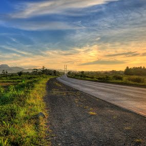 My Way Home by Kit Mabz - Landscapes Sunsets & Sunrises ( hdr, sunset, landscape, philippines, butuan city )
