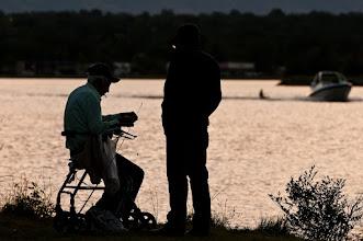 Photo: Fishing at sunset
