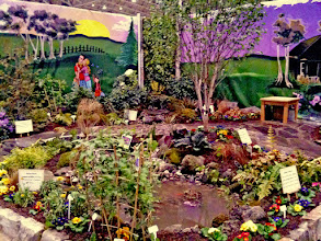 Photo: This was our garden created at Canada Blooms to teach the public about eco-friendly elements such as #rainscapes, benefits of planting natives and more.