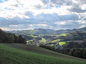 Photo: Vor uns liegt Bad Schönau.