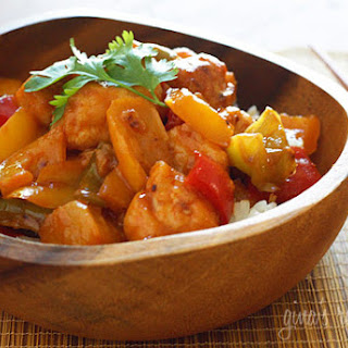 Thai Chicken and Pineapple Stir Fry.