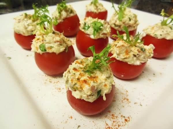 Greek Stuffed Tuna & Pancetta Campari Tomatoes