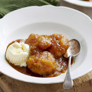 Buttermilk Dumplings in Maple Syrup.