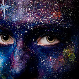 Sky by Mel Stratton - People Body Art/Tattoos ( close up, face, art, paint, glitter,  )