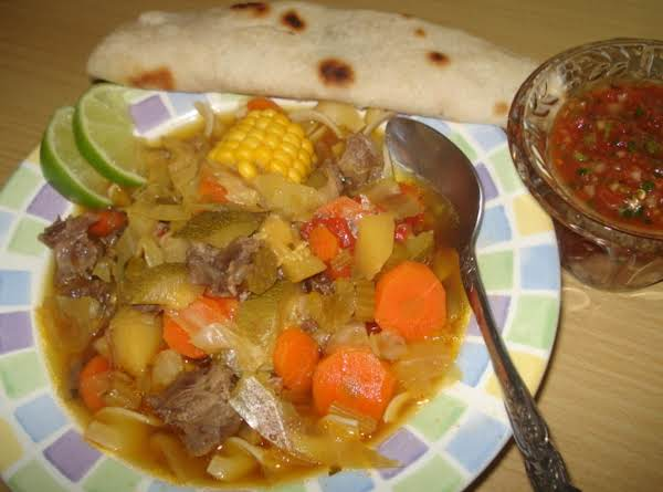 Mexican Beef Vegetable Soup/caldo Mexicano De Res Y Vegetales Recipe