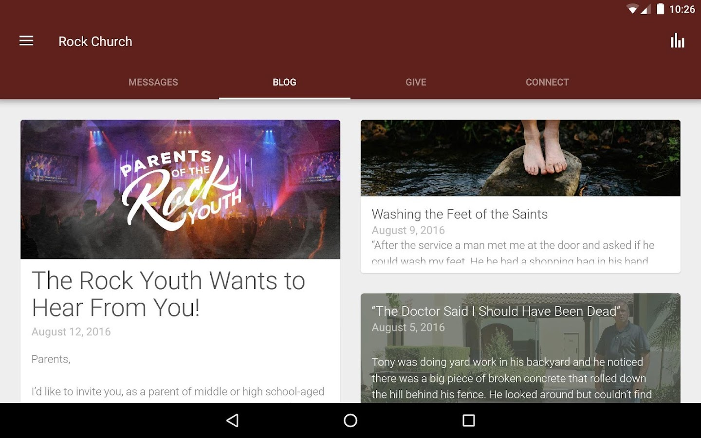 Rock Church Official App- screenshot