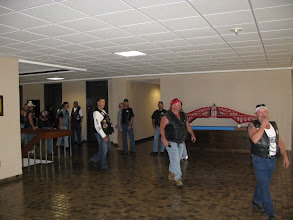 Photo: A breif tour of the Internationals lobby before the hike to the wall