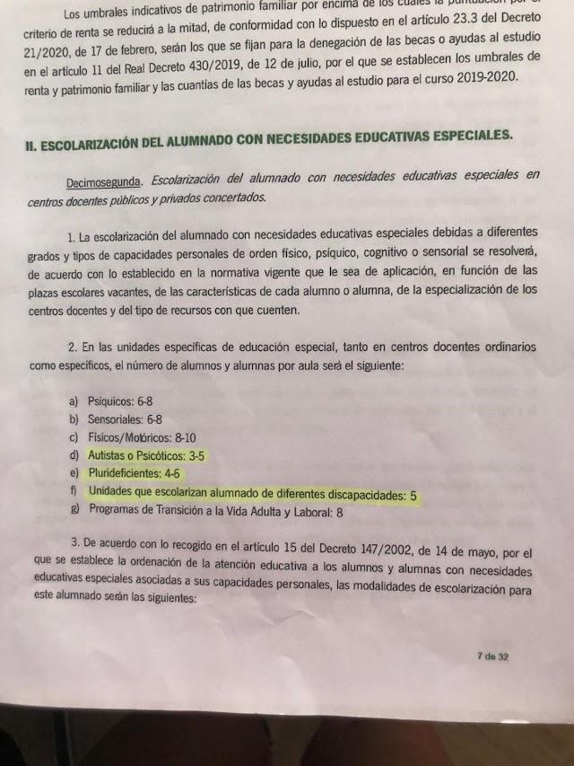 Instrucciones para la matriculación.