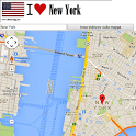 New York map icon