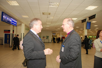 Photo: With Airport Chief Executive Glyn Jones