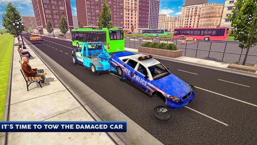 Police Tow Truck Driving Car Transporter 1.5 Screenshots 8