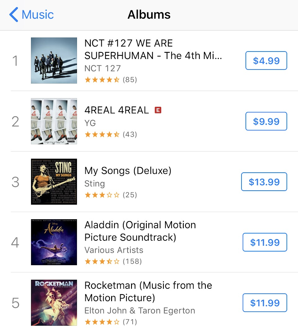 NCT_127_TOP_iTUNES CHART_2