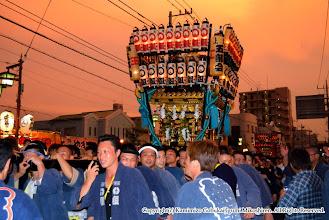 Photo: 【平成20年(2008) 本宮】  幸いにも雨はすぐにあがり、見事な夕焼けの空の下で渡御。