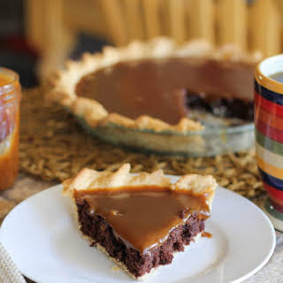 Caramel Brownie Pie.