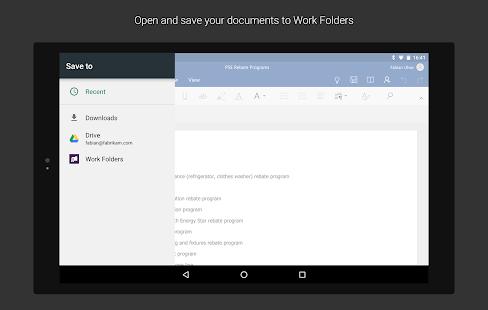 Work Folders Screenshot 16