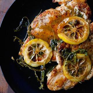 Chicken Paillard Braised in Leffe Blonde