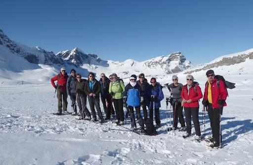 Gruppenfoto der Schneeschuhtour Melchsee-Frutt vom 27.Januar 2018