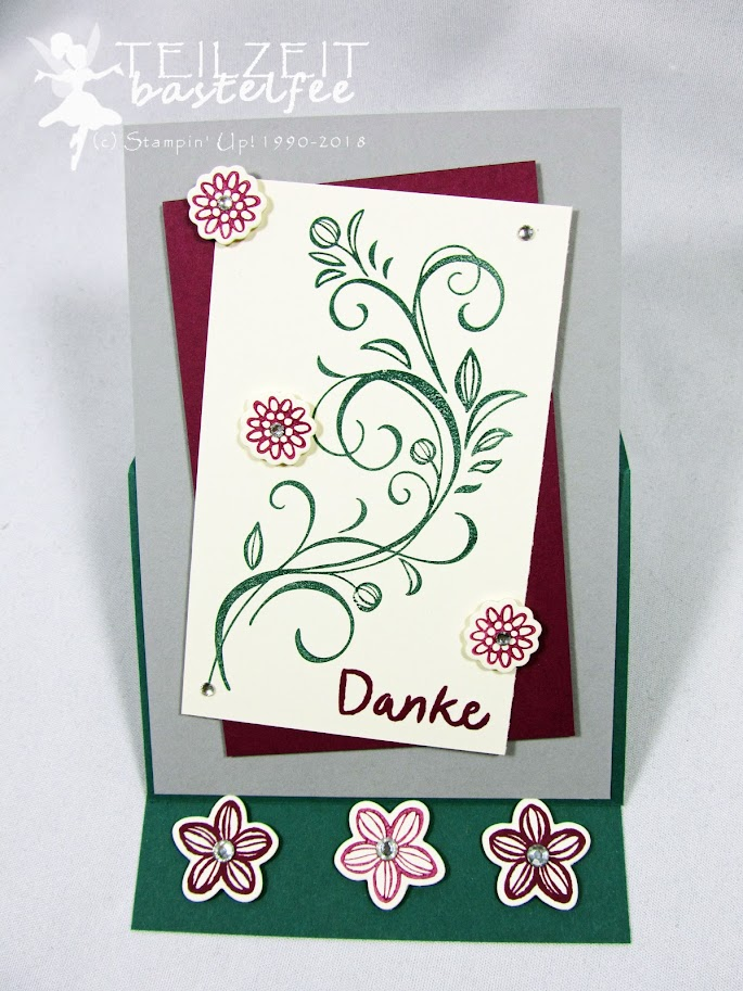 Stampin' Up! - Inkspire_me, Color Challenge, Falling Flowers, May Flowers Framelits, Thankful Thoughts, Zum Dank