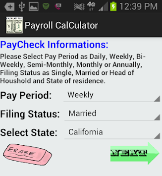 download accurate pay calculator noad apk latest version app for
