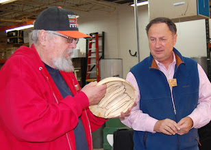 Photo: Ed Karch applies his practiced wood-ID eye and thinks it is probably maple as well.